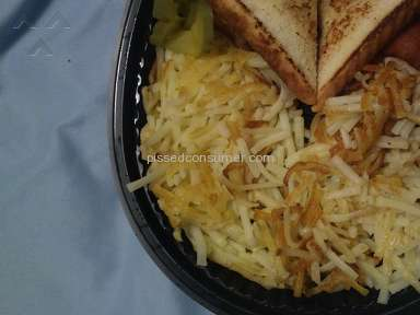 Waffle House - Pay for scattered covered and chunked hash browns