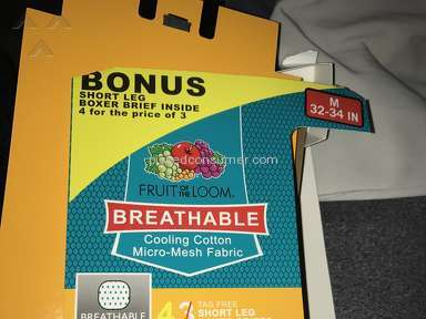 Fruit of the Loom - Breathable Underwear Review from Dayton, Ohio