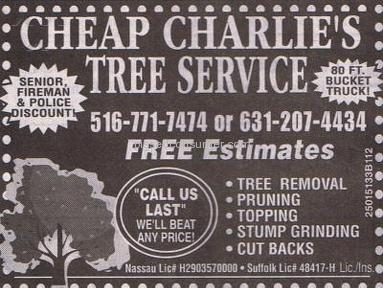 Cheap Charlies Tree Service Advertising review 3909