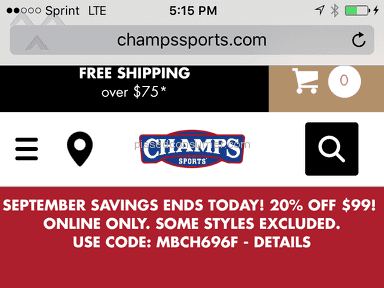 Champs Sports - Shipping Service Review from Brooklyn, New York