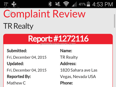Tr Realty Property Management Review from Los Angeles, California