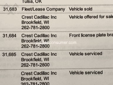 Crest Cadillac Of Brookfield - Unethical Auto Dealership