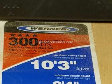 Werner Ladder - Unsafe recalled ladder