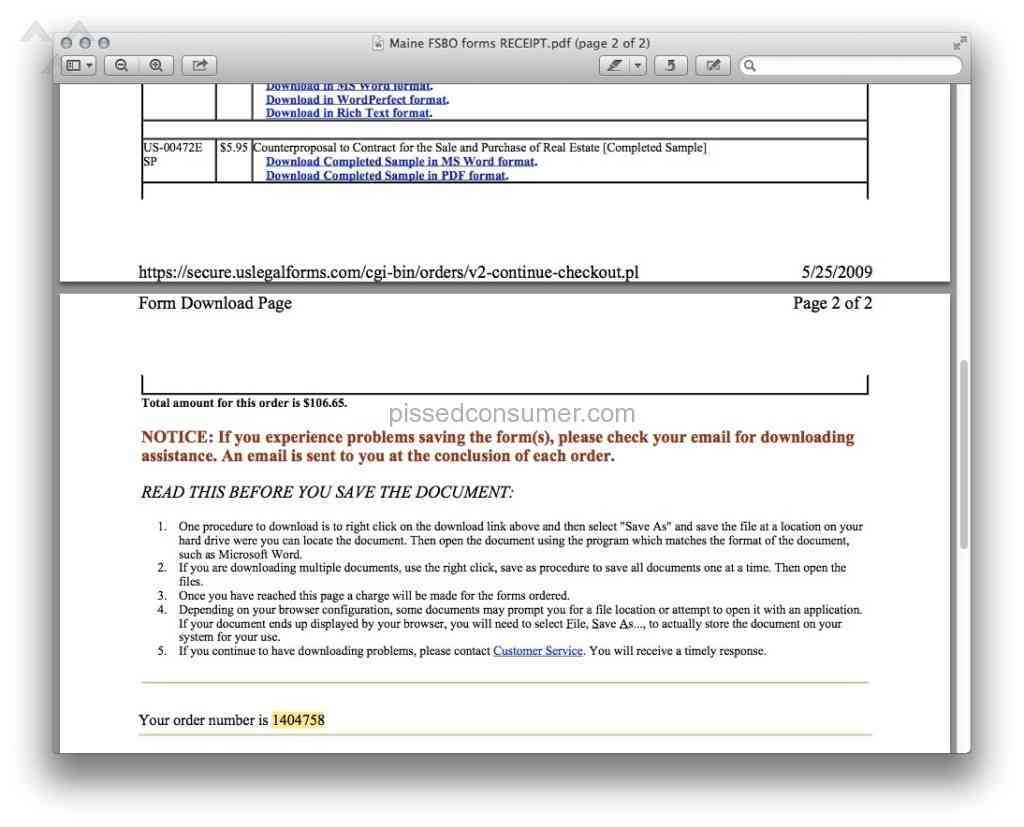 1 Us Legal Forms Review Or Complaint Pissed Consumer