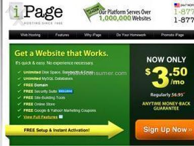 Ipage web host scam. Why you want to do your research before choosing a web host