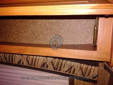 2012 Jayco Jayflight 32BHDS - Overhead Cupboard & Curtain Coming off Wall