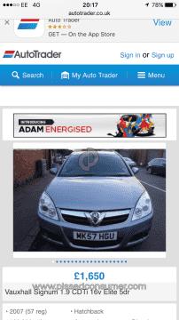 2007 Vauxhall Signum Car