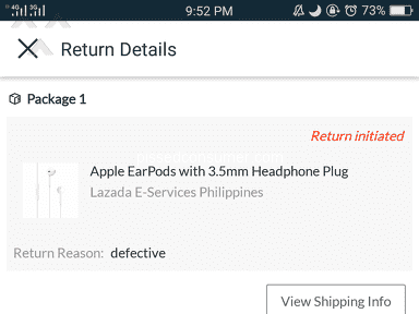 Lazada Philippines - Follow up for refunding