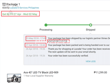 Lazada Philippines Shipping Service review 292436