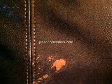 Coleman Furniture - Leather sofa started peeling within 24 hours! Nonexistent customer service!