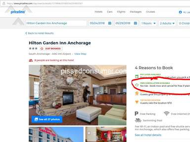Priceline Hilton Garden Inn Room Booking review 291070