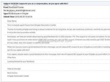 Dhgate Customer Care review 155734
