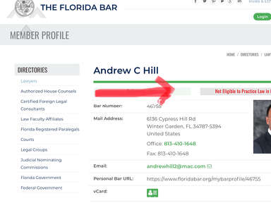 Attorney Andrew C Hill Lawyers and Legal Services review 340692