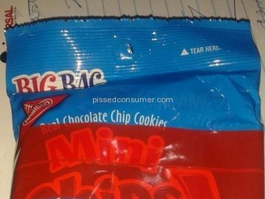 Chips Ahoy - Red Tape on bag