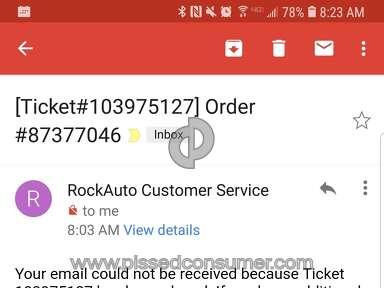 Rockauto Shipping Service review 311540