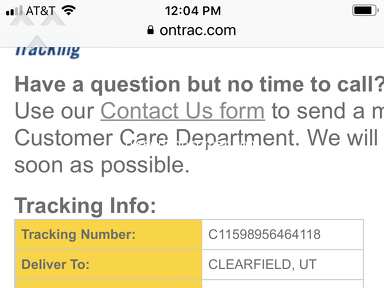 OnTrac - Package not delivered, no help from customer service