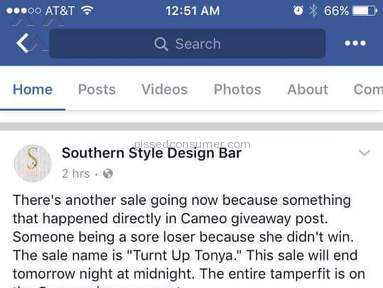 Southern Style Design Bar Customer Care review 211742