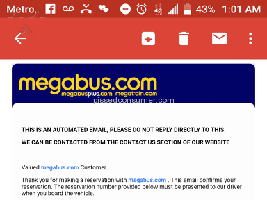 Megabus - TRIP RUINED