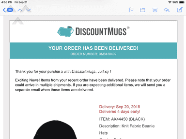 Discountmugs - DiscountMug- Major Disappointment