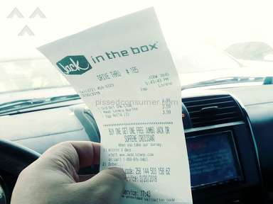 Jack In The Box - Employee tampered with my bill