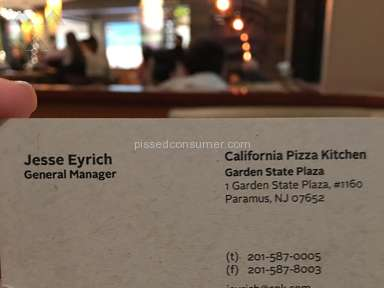 California Pizza Kitchen - Rude manager Jesse Eyrich