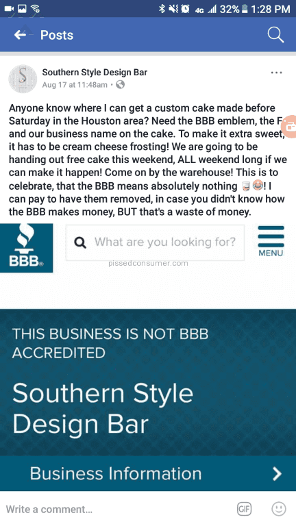 Southern Style Design Bar - Way beyond the 9-14 business day and ...