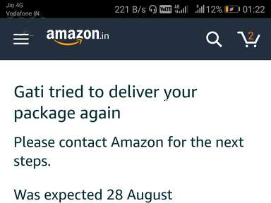 Amazon - Poor! till not delivered since 25 days from the order date