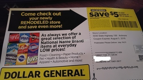 Dollar General Corporation Coupon