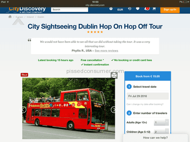 City Discovery City Sightseeing Dublin Hop On Hop Off Tour Booking review 150232