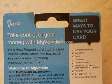 Myvanilla Prepaid Card review 235924