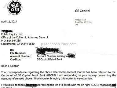 Ge Capital Retail Bank - GE CAPITAL/PAYPAL BRAZEN LIE NOT EVEN THE USPS IS SAFE