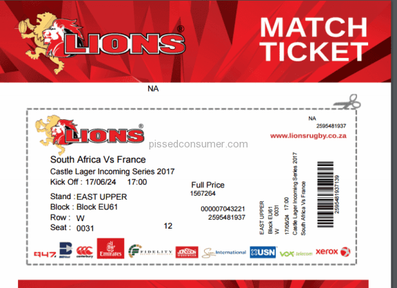 Viagogo South Africa South Africa Vs France Rugby Ticket