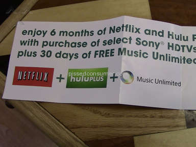 Sony will not offer 6 months free Netflix offer