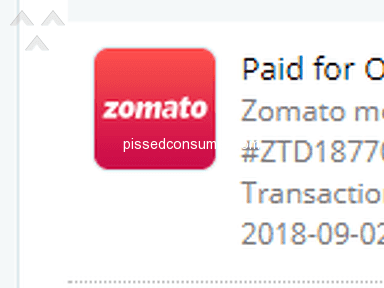 Zomato - Money deducted service or refund not received