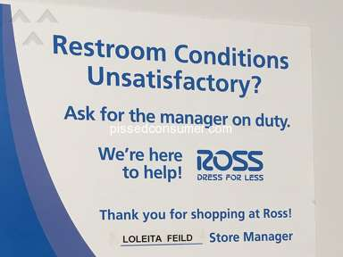 Ross Dress For Less - Injury