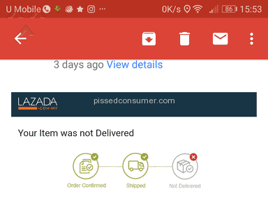 Lazada Malaysia Shipping Service review 236678