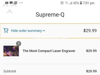 Supreme Q Myshopify - I am Received Wrong Product
