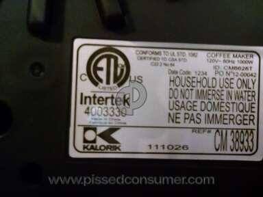 Kalorik Appliances and Electronics review 102449