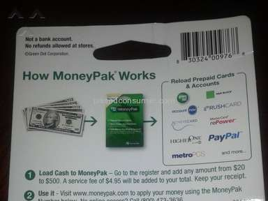 Green Dot Moneypak - Missing Numbers Review from Shreveport, Louisiana