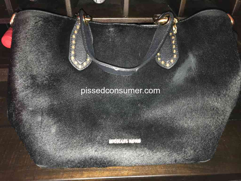 d845cb19c06993 Michael Kors - $500 handbag worn out material in less than one. MK not  honoring