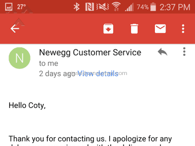 Newegg Shipping Service review 107965