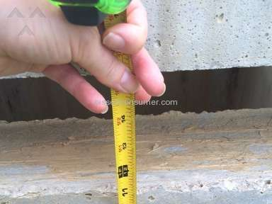Dr Horton - Concrete drain 11 inches above ground level!