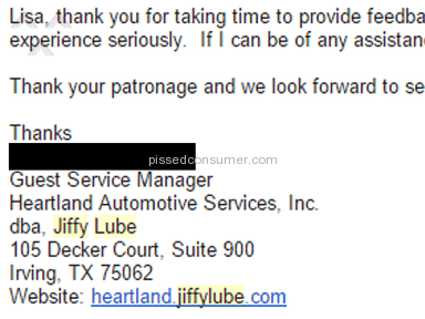 Jiffy Lube Oil Change review 97715