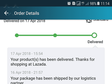 Lazada Malaysia - Not received the items but order status delivered