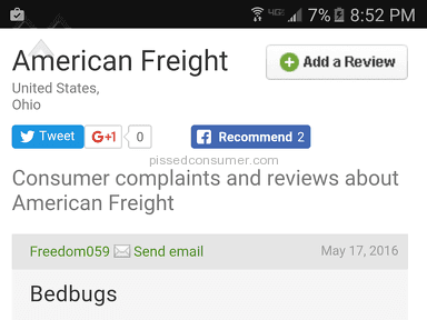 American Freight Furniture - Mattress Review from Lansing, Michigan