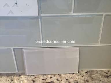 Floor And Decor - Glass Tiles - Customer Service excuses