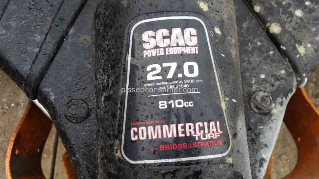 9 SCAG Power Equipment Reviews and Complaints @ Pissed Consumer