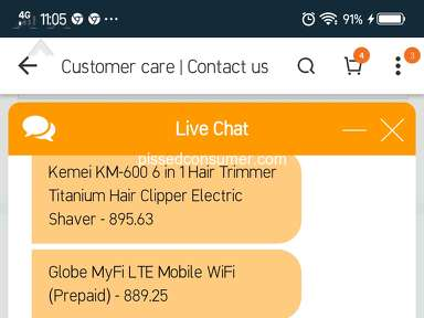 Lazada Philippines Customer Care review 357186