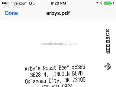 Arbys - 2/$6 Greek gyro is not true