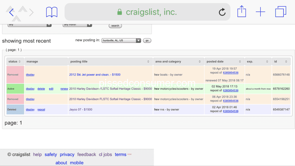 Craigslist - You've waisted my time May 12, 2018 @ Pissed